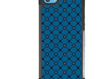 iPhone 5 5s 6 6s 6+ 6s+ SE 7 7+ iPod 5 6 Phone Case, Blue Moroccan Tile Design, Plus