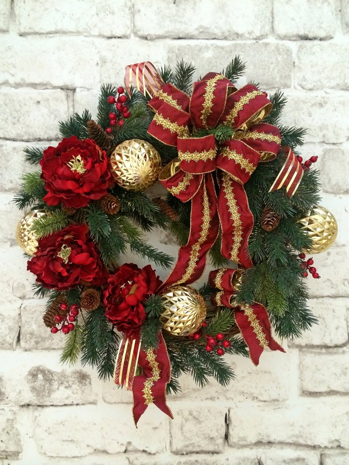 Christmas wreath holiday wreath christmas decor outdoor Traditional outdoor christmas decorations