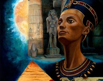 Queen Nefertiti - Archival Giclee 16x20 SIGNED Print