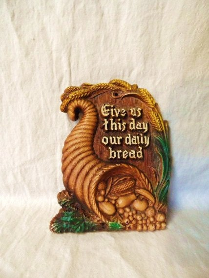 Cornucopia Wall Plaque Give Us This Day Our Daily Bread