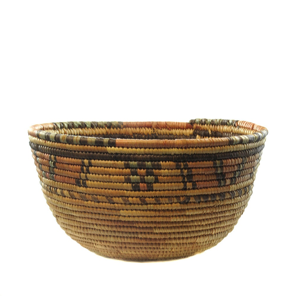 African Woven Baskets: African Woven Basket FREE SHIPPING