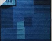 Natural Indigo Patchwork Quilt - Hand Stitched / antique Japanese indigo & hand dyed indigo