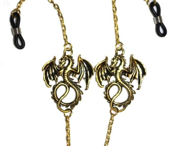 Dragon Chain Holder NecklaceGold Eyeglass ChainPunk