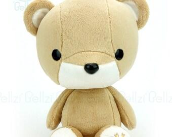 "Bellzi® Cute Stuffed Animal ""Brown"" w/ White Contrast Bear Plushie Doll - Teddi"