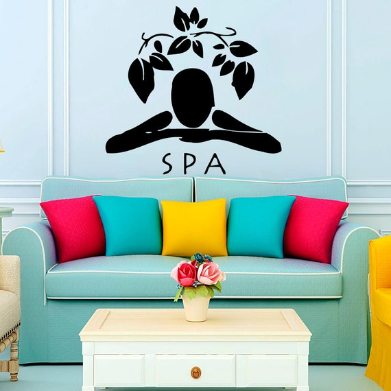 Wall Decor For Massage Room : Items similar to woman wall decals girl spa massage relax