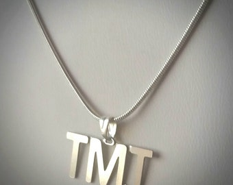 TMI Text Talk Fashion Necklace - texting abbreviation Too Much Information