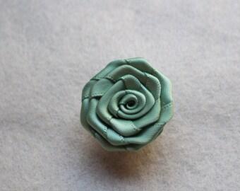 Sage Green flower lapel pin