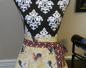 Woman's Country Rooster Skirt Apron