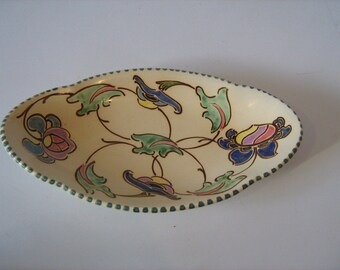 Stunning Honiton Pottery Ceramic  Dish In A Wonderful Design - Devon England / MEMsArtShop.