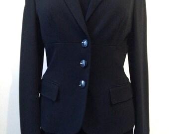 Slim black jacket Moschino