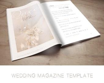 Wedding & Engagement Photography Magazine Template - Marketing - Text Included - Photography Template - Wedding Photography Magazine