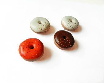 Donut Magnets - Food Magnets - Kitchen Magnet - Polymer Clay Magnets - Halloween Magnets - Doughnut Magnet - Kawaii - Miniature Food