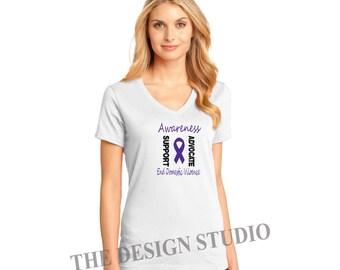 Domestic Violence Awareness T-shirt, Stop Violence Against Women, Fundraiser for Battered Women's Shelter, Custom Shirts.
