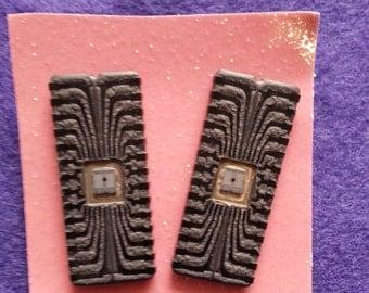 Microchip Earrings - vintage computer geekery pierced