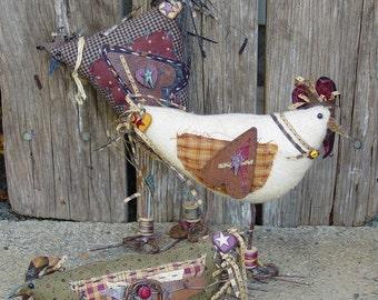 """Craft Pattern - Crazee Chickens: 4""""-10"""" Primitive Chickens"""