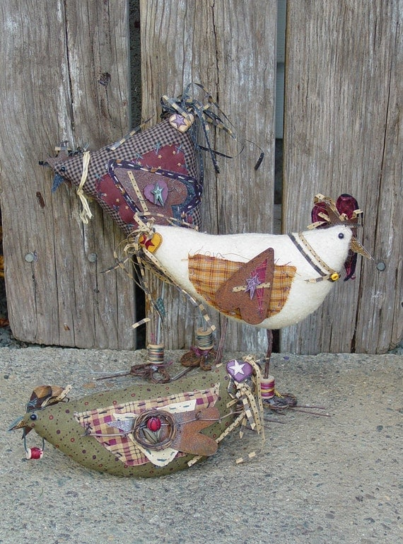 "Craft Pattern - Crazee Chickens: 4""-10"" Primitive Chickens"