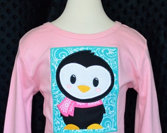 Penguin Patch Applique Shirt or Onesie Boy or Girl