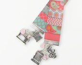 Quilting Theme Ribbon Bookmark - I Love Quilting - Quilt Crafts - Sewing and Textiles