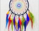 "Medium dream catcher\ motley dream catcher \ varicoloured dreamcatcher\ varicolored\ hand made\Dreamcatcher ""Rainbow spirits"""