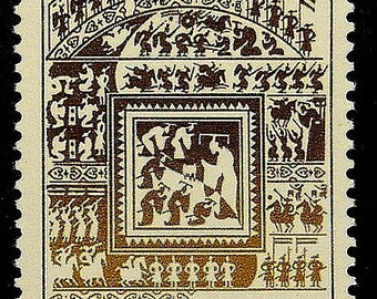 The art of war, Sun Tzu -Handmade Framed Postage Stamp Art 18309
