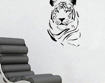 "Tiger Face Wall Decal 22""x34"""