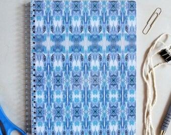 Blue Aztec Pattern Notebook