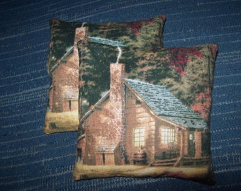 Balsam sachet, set of two, Maine fir balsam, country cottage