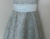 Vintage style lace flowergirl/bridesmaid dress
