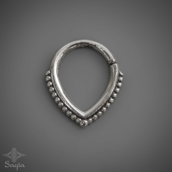 tribal septum ring sterling silver septum jewelry nose by