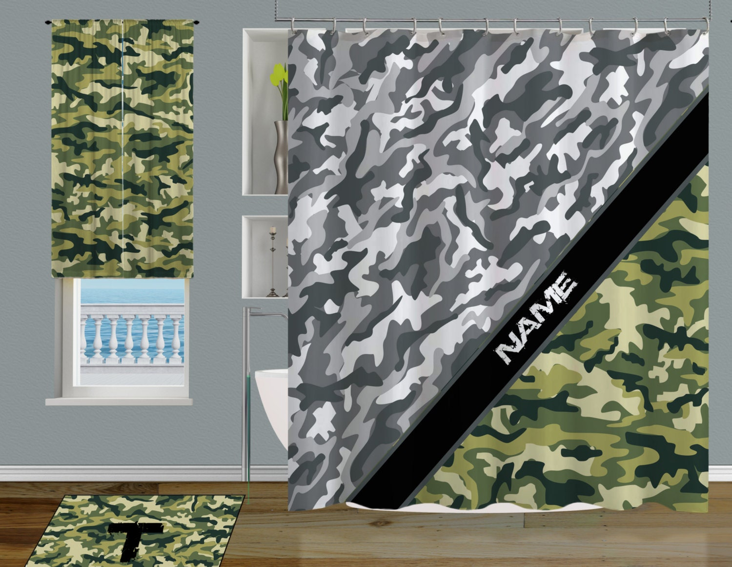 Camo Shower Curtain Cool Shower Curtains Camouflage Shower
