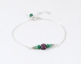 Bracelet «Little Hipa», Garnet