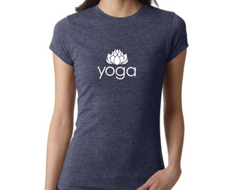 Yoga Shirt, Yoga Lotus shirt, Yoga Top, Yoga Tank, Om Shirt, Namaste Shirt, Meditation Shirt, Ladies Shirt, fitness shirt, gym, #LS53