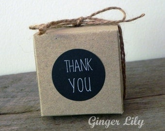 Wedding Favour & Envelope Thank You seal Stickers - Black with White Print