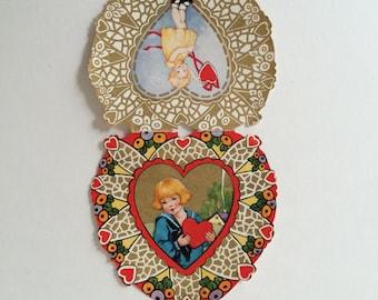 Vintage Valentine, Whitney Made Valentine 1920s, 2 Sided Valentine