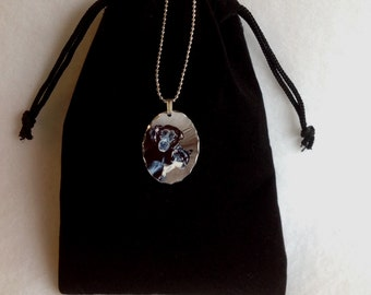 Pet Photo Necklace, Custom Photo Jewelry Pendant, Dog, Cat, Baby, Memorial, Personalized, Your Photo