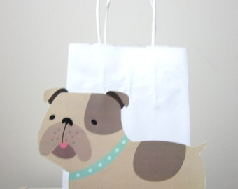 Puppy Dog Goody Bags, Puppy Dog Favor Bags, Bulldog Favors