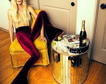 Solid Velvet Bells, Wine, Burgundy, Red, Bell Bottoms, Velvet Pants, Festival Wear, Hippie, Bohemian, Gypsy