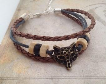 Fox Bracelet - Bohemian Bracelet - Native American Bracelet  - Boho Bracelet - surf bracelet - tribal bracelet