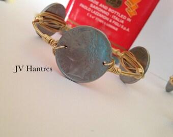 Italian Lira Coin Wire Wrap Bracelet - QTY 1