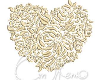 MACHINE EMBROIDERY FILE - Valentines Heart, Wedding heart