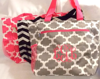 Bridesmaids Gift Monogrammed Bag  Monogrammed Tote  Personalized Tote Bag