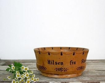Vintage Norwegian Wood bowl
