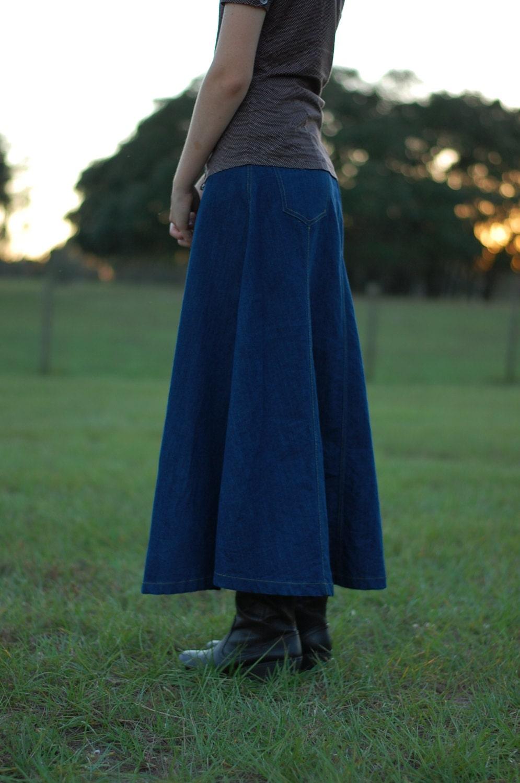 modest denim jean skirt with by prettymodestshoppe