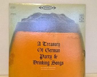 Man-Cave Bar Record-Album A-Treasury-of-German-Party-&-Drinking-Songs German-Music  LP 33 1/2 Bavarian-Folk-Music German-Beer-Garden