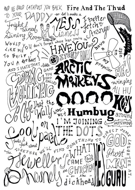 ARCTIC MONKEYS - HUMBUG ALBUM LYRICS