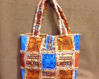 Southwestern  Quilted Rag Bag Tote