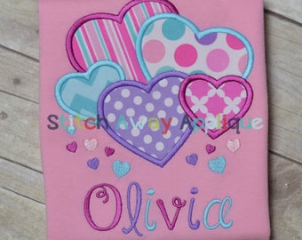 Lots of Hearts Valentine's Machine Applique Design