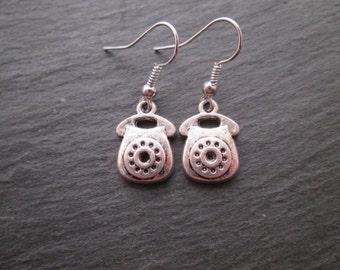 Rotary Telephone Charm Earrings