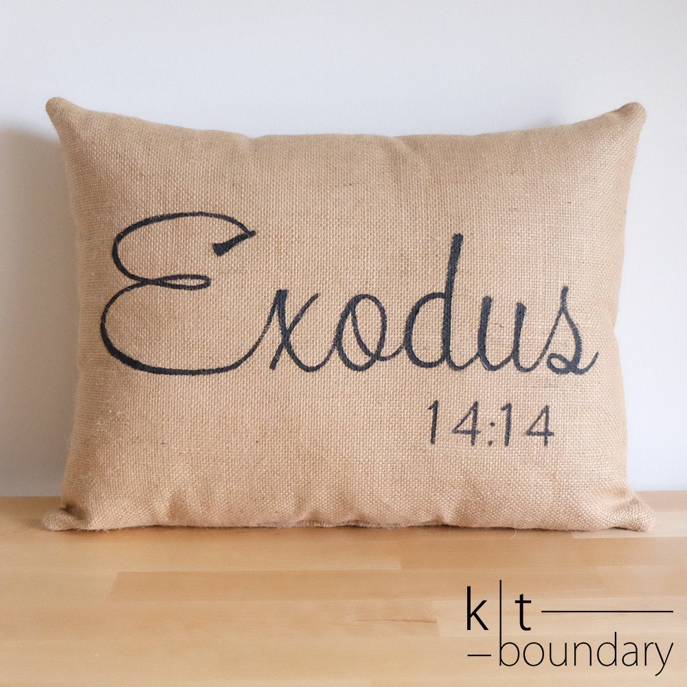 Decorative Pillows With Scripture : Bible Verse Burlap Pillow Decorative Pillow Custom Pillow