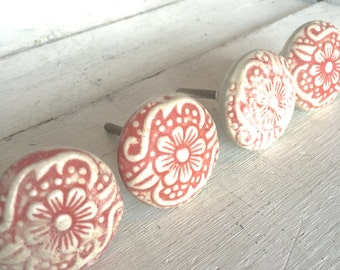 Superior Flower Decorative Knob, Ceramic Knob, Decorative Knob, Cabinet Decor,  Dresser Knobs,